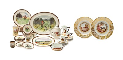 AN ASSEMBLED ENGLISH PORCELAIN