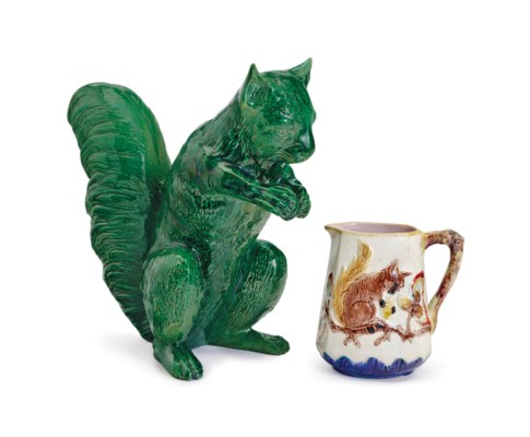 A LARGE MAJOLICA GREEN-GROUND
