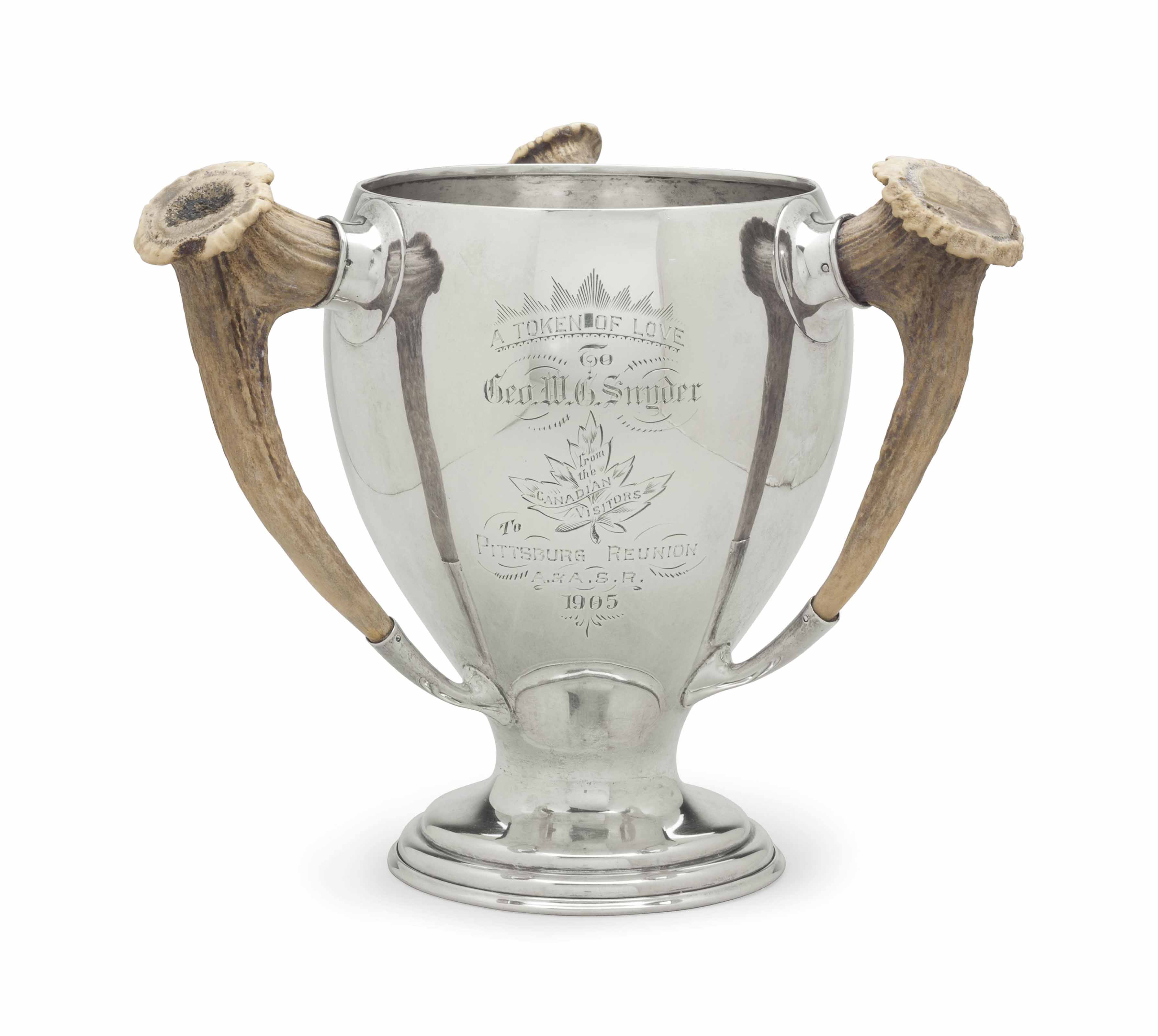 A CANADIAN SILVER LOVING CUP
