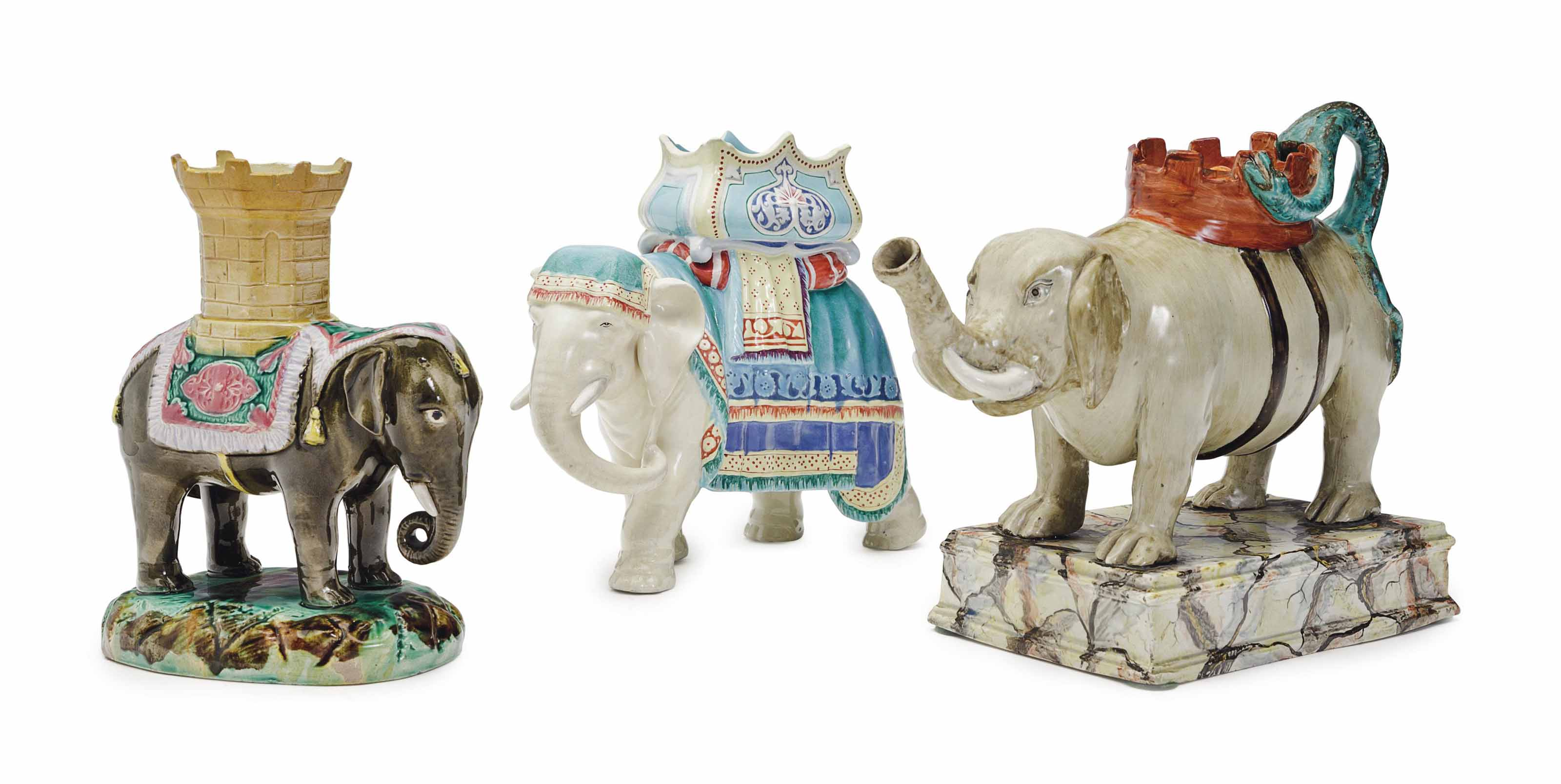 THREE ENGLISH CERAMIC MODELS O
