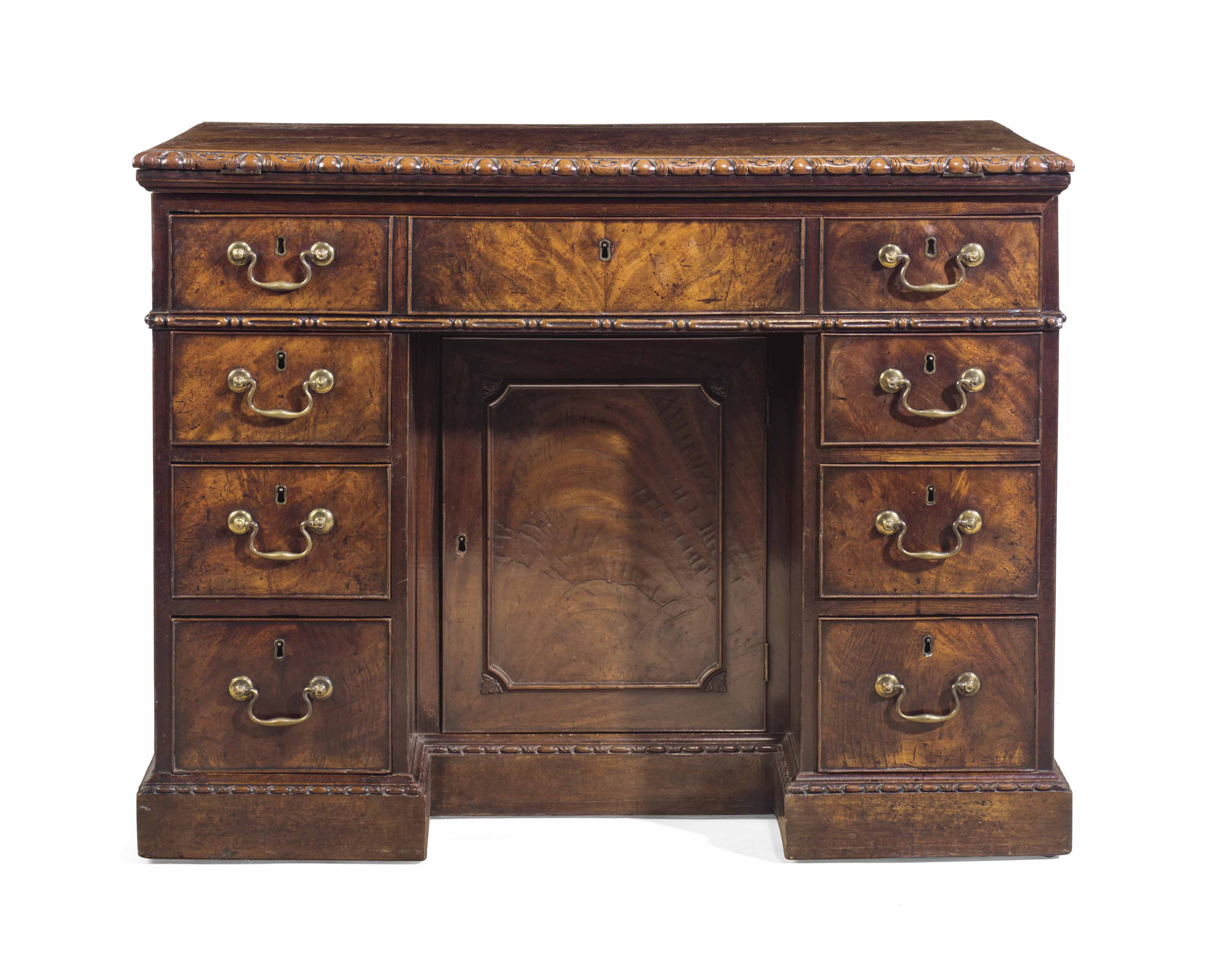 A GEORGE II MAHOGANY LIBRARY D