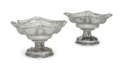 A PAIR OF VICTORIAN SILVER RET