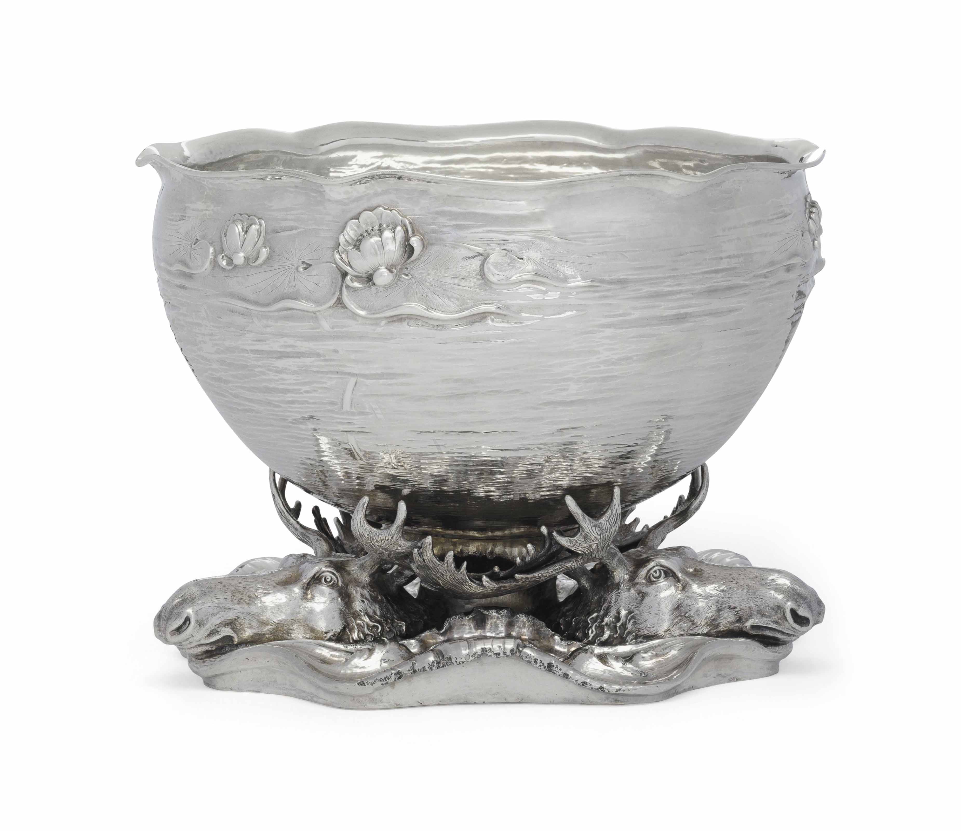 AN AMERICAN SILVER PUNCH BOWL