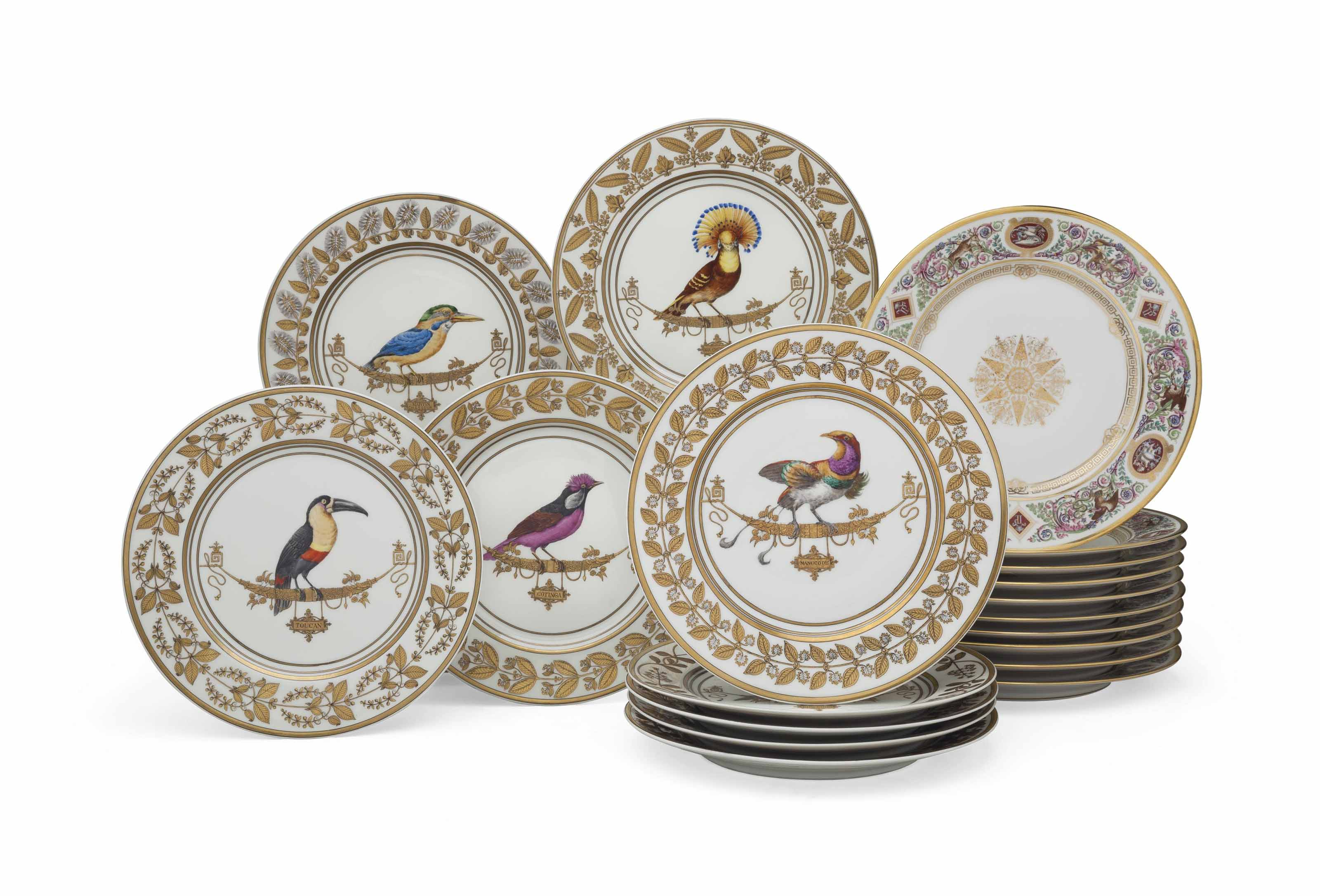 THIRTY LIMOGES PORCELAIN PLATES