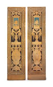 A PAIR OF AMERICAN POLYCHROME