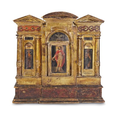 AN IBERIAN GILTWOOD AND POLYCH