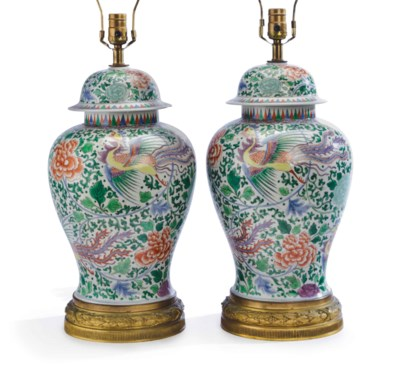 A PAIR OF FRENCH PORCELAIN LAM
