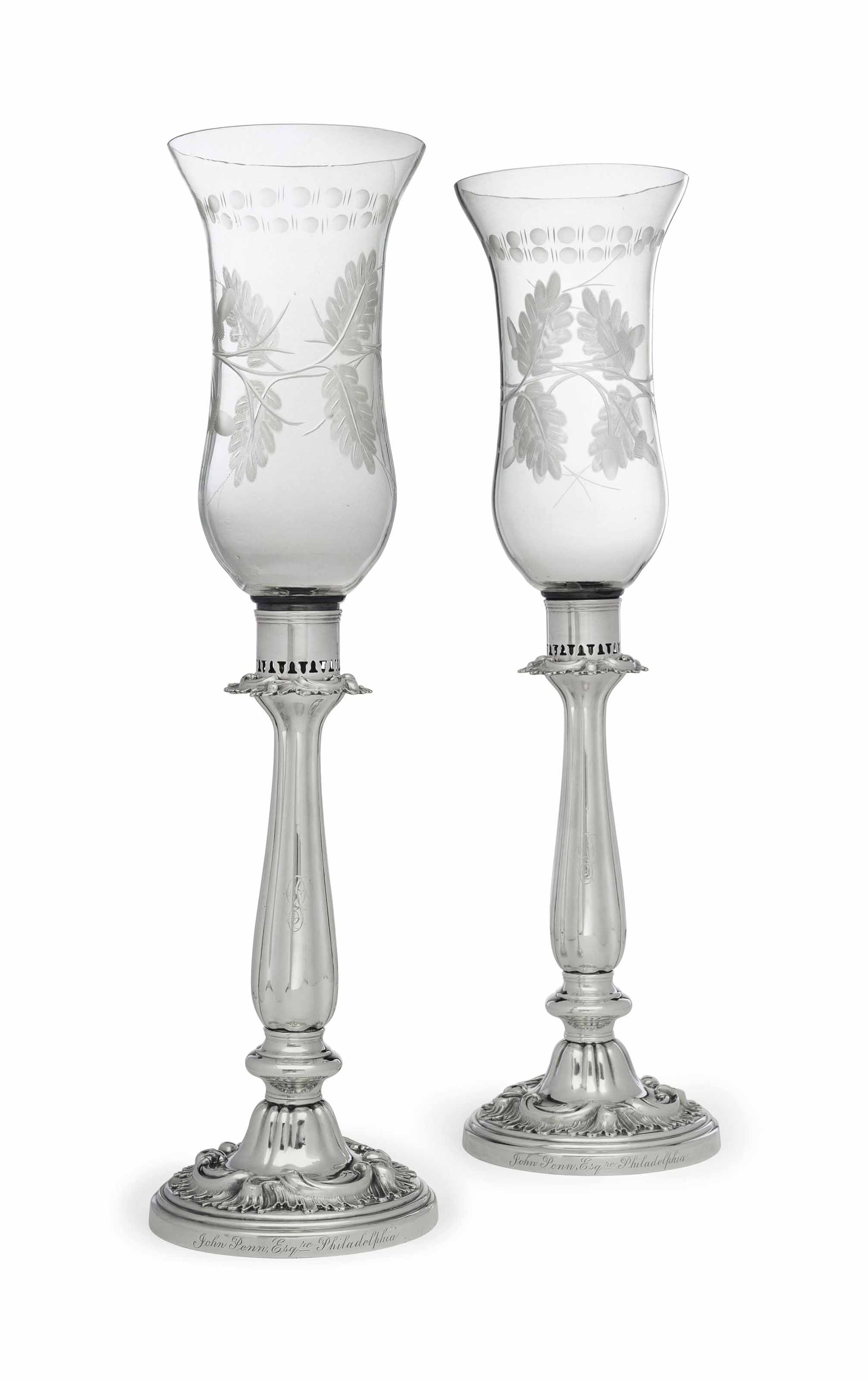 A PAIR OF VICTORIAN SILVER PLA