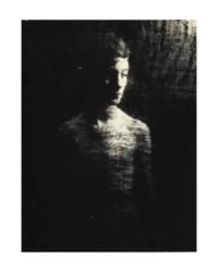 Portrait à travers en drap noir, c. 1938