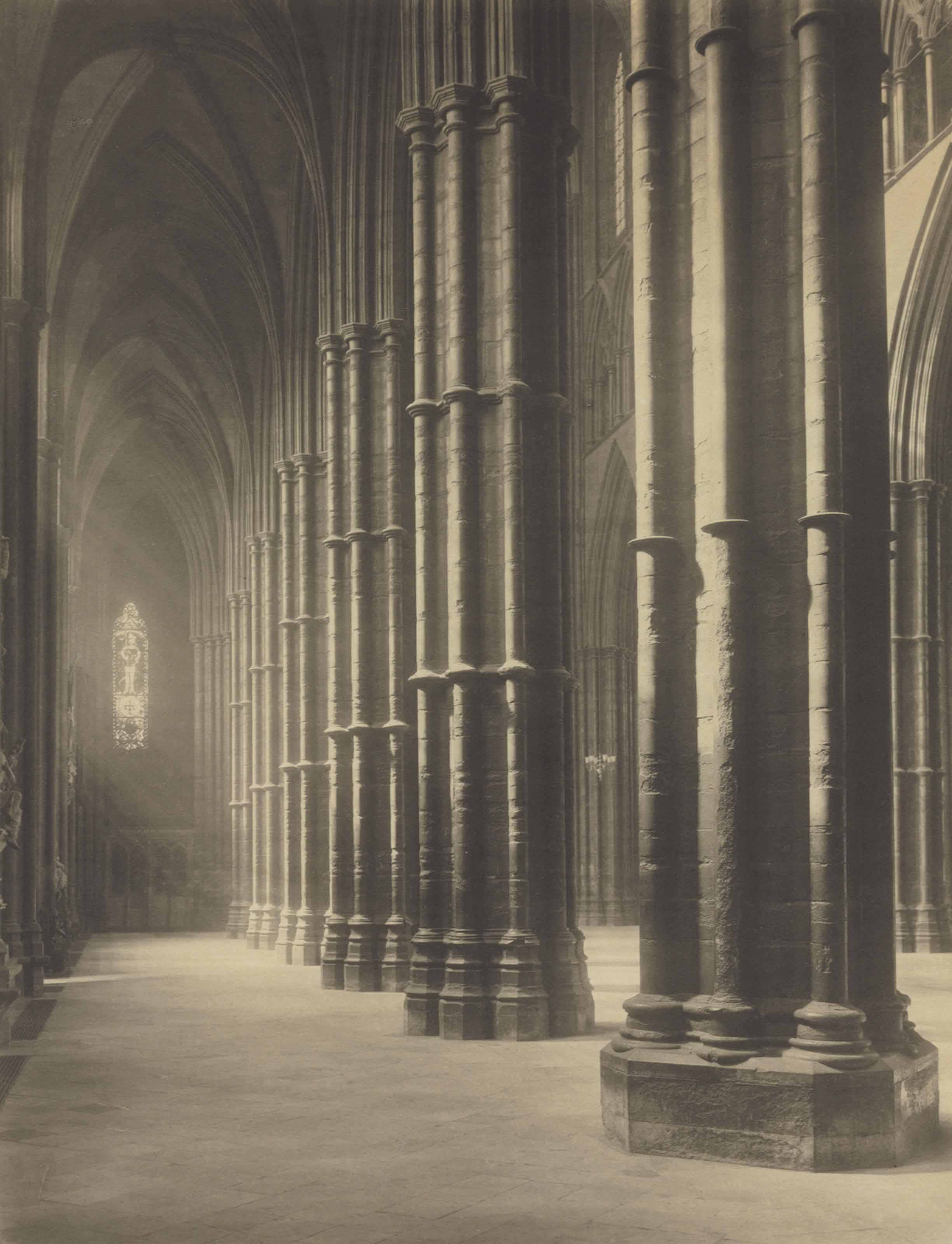 Westminster Abbey, South Aisle and into Nave, 1911