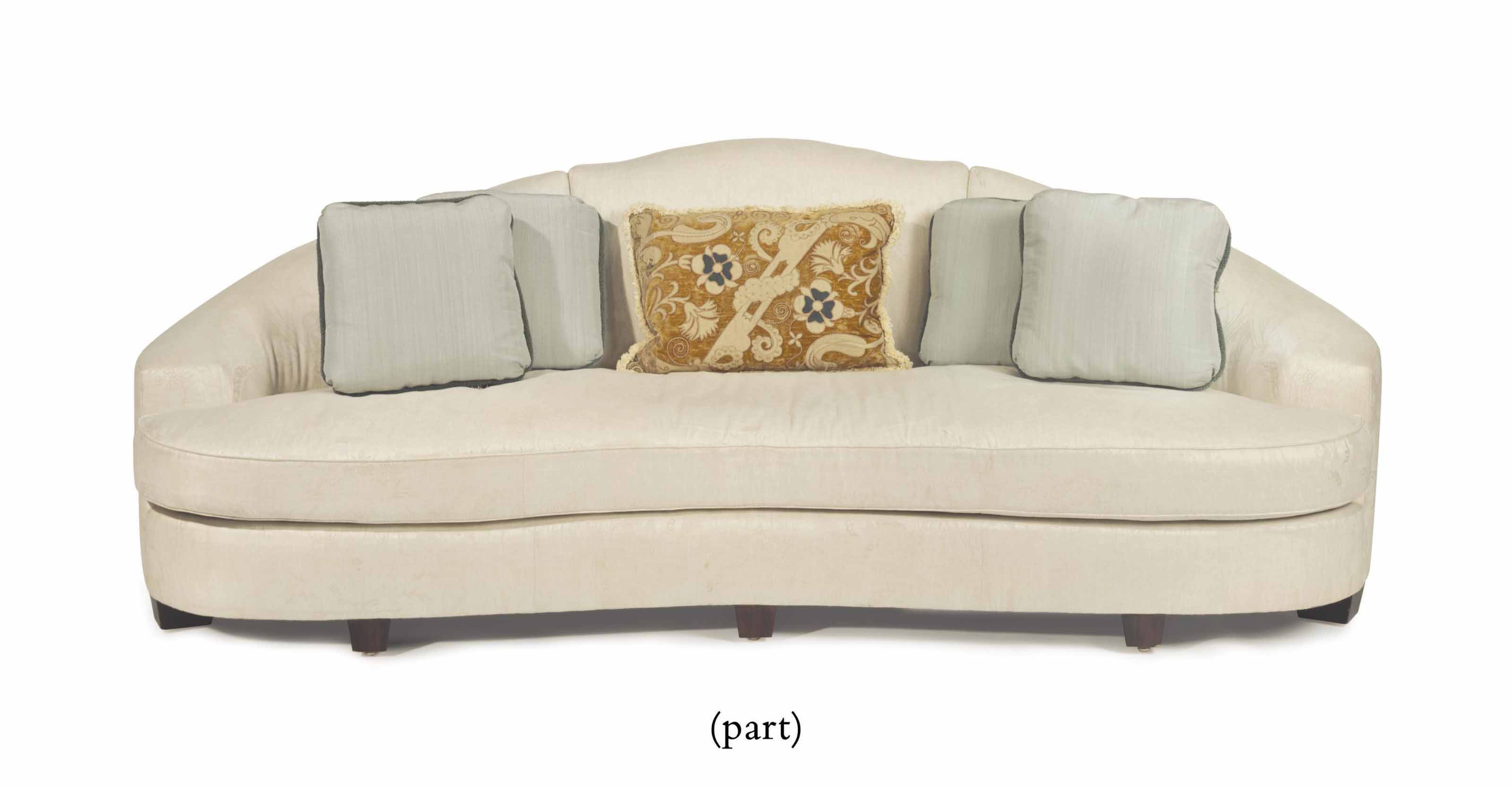 A PAIR OF CONTEMPORARY UPHOLST
