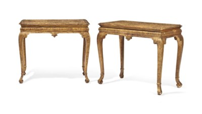 A PAIR OF ENGLISH GILT-GESSO T