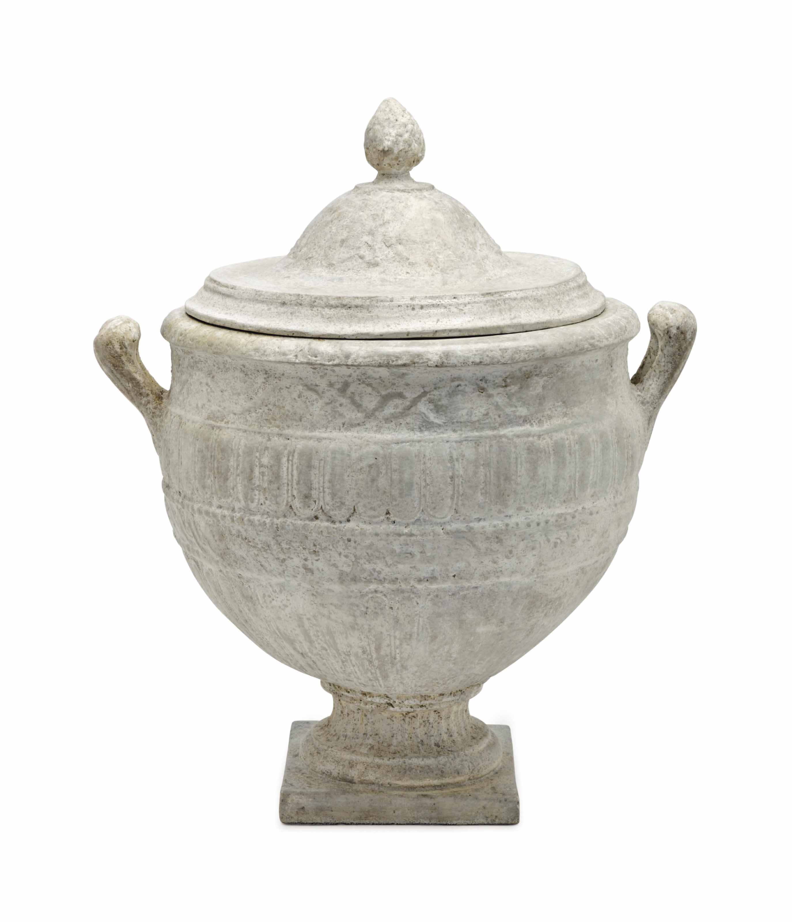 AN ITALIAN COMPOSITE URN AND C