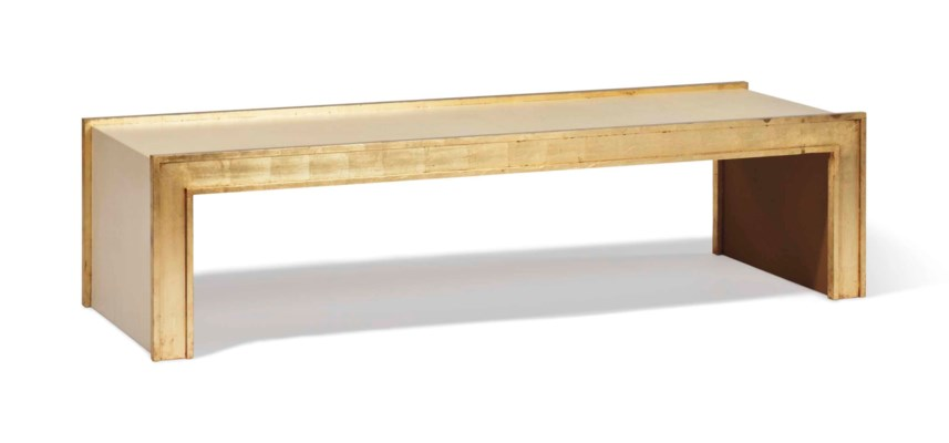 A PARCHMENT-VENEERED AND GILT-