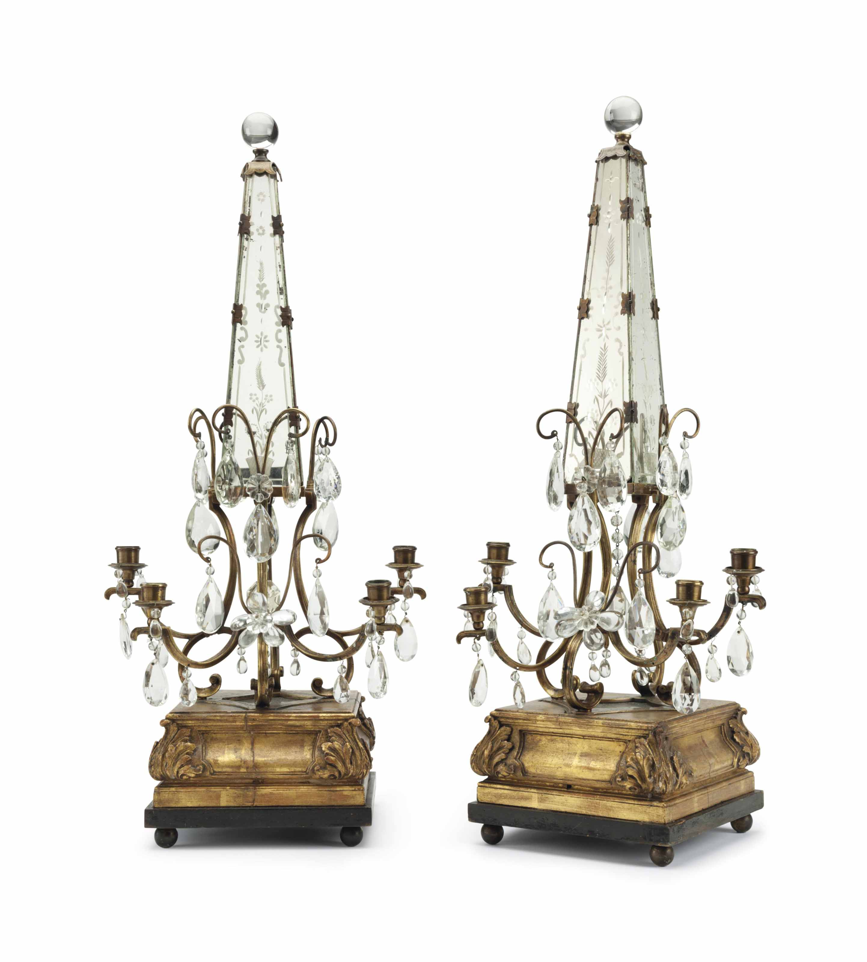 A PAIR OF FRENCH GILTWOOD, GIL