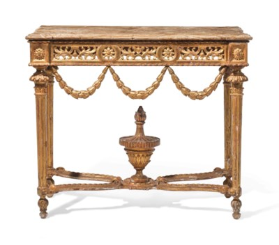 A SOUTH EUROPEAN GILTWOOD SIDE
