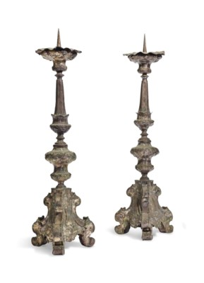 A PAIR OF SPANISH COLONIAL SIL