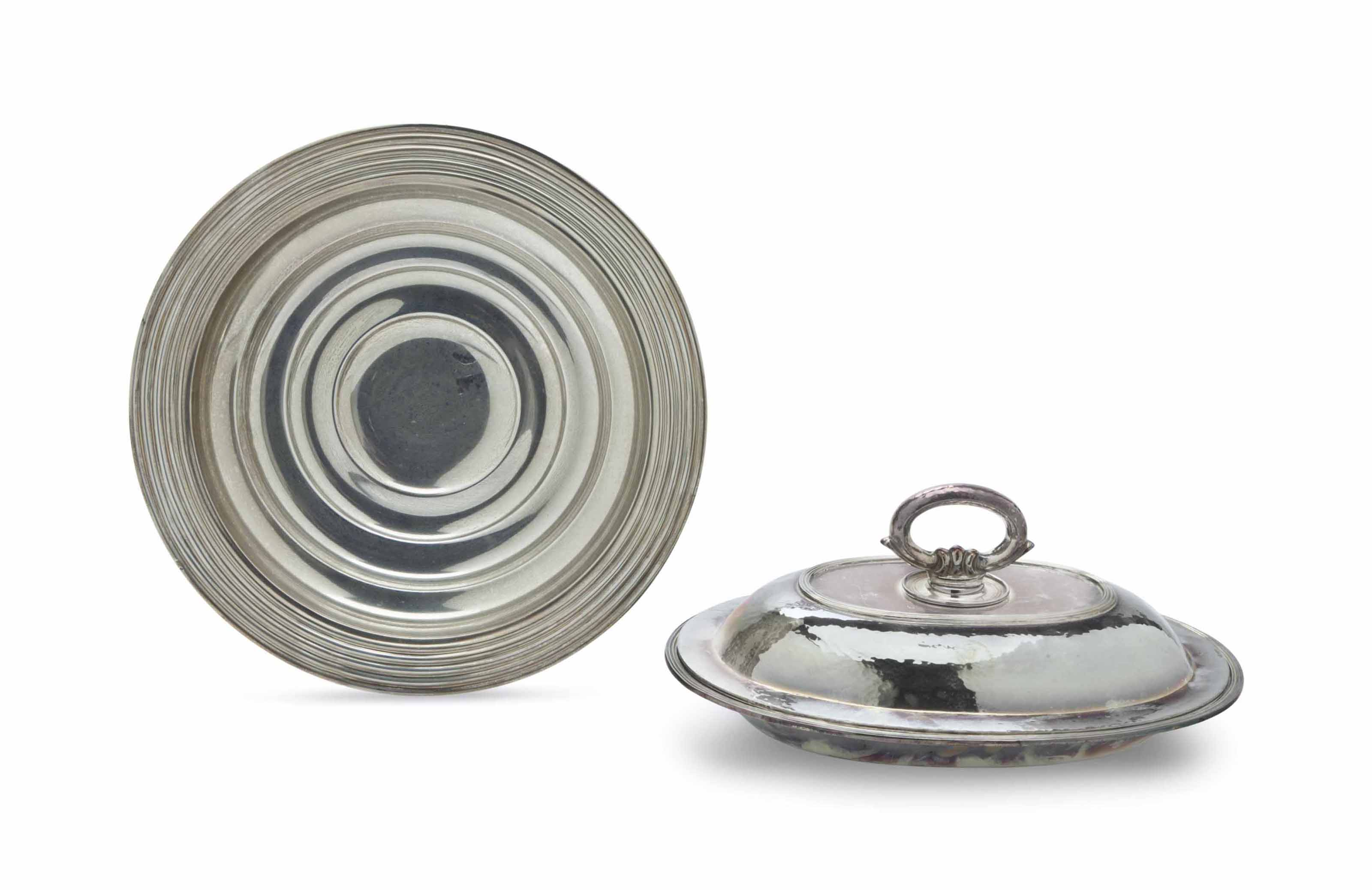 TWO PORTUGUESE SILVER SERVING