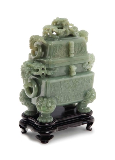 A CHINESE ARCHAISTIC CARVED MO