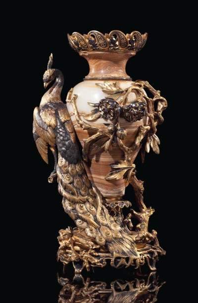 A FRENCH POLYCHROME-PATINATED