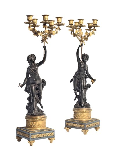 A PAIR OF FRENCH ORMOLU, PATIN