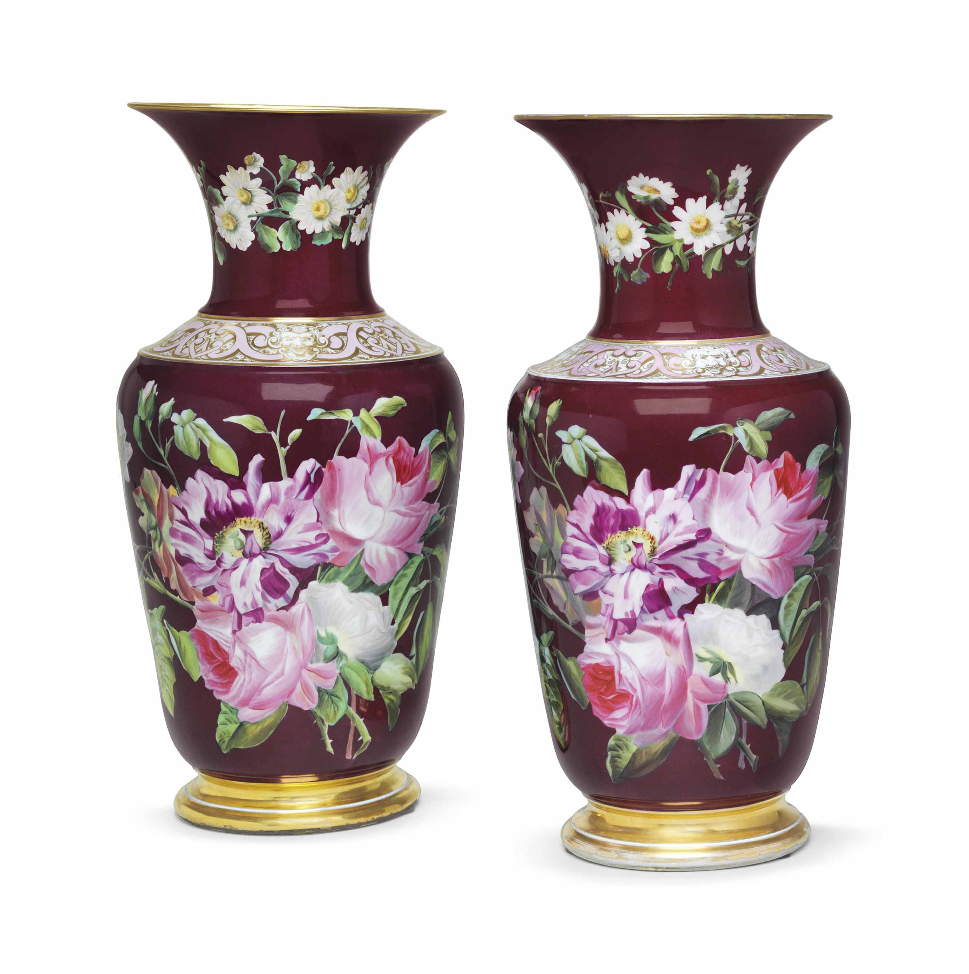 A PAIR OF FRENCH PORCELAIN BUR
