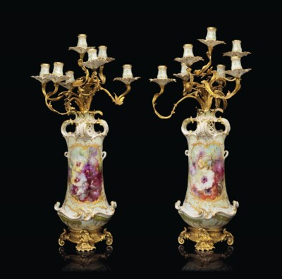 A PAIR OF ORMOLU-MOUNTED BERLI