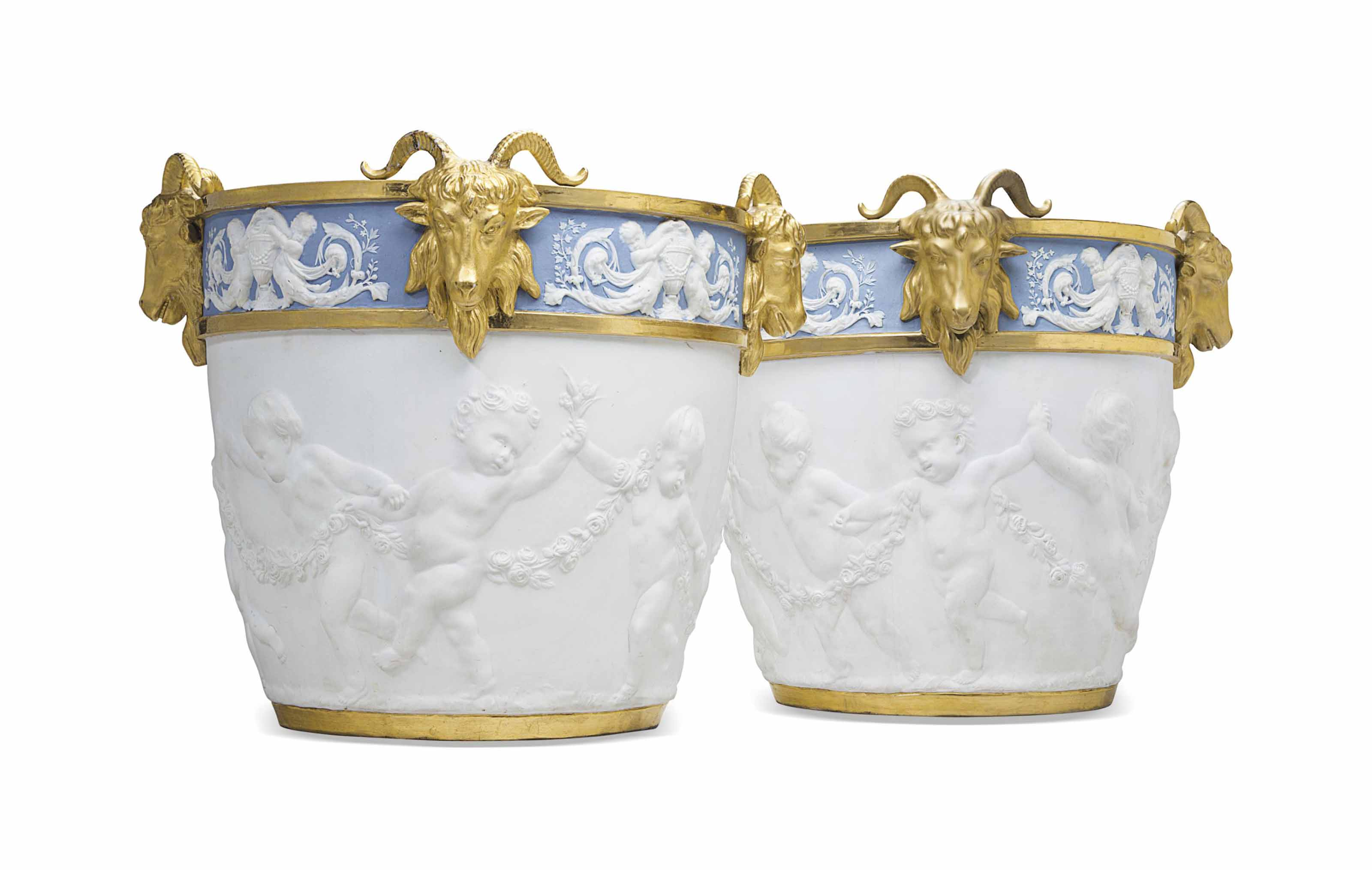 TWO SAMSON SEVRES STYLE PARCEL
