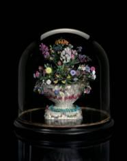 A CONTINENTAL GLASS FLOWER BOU