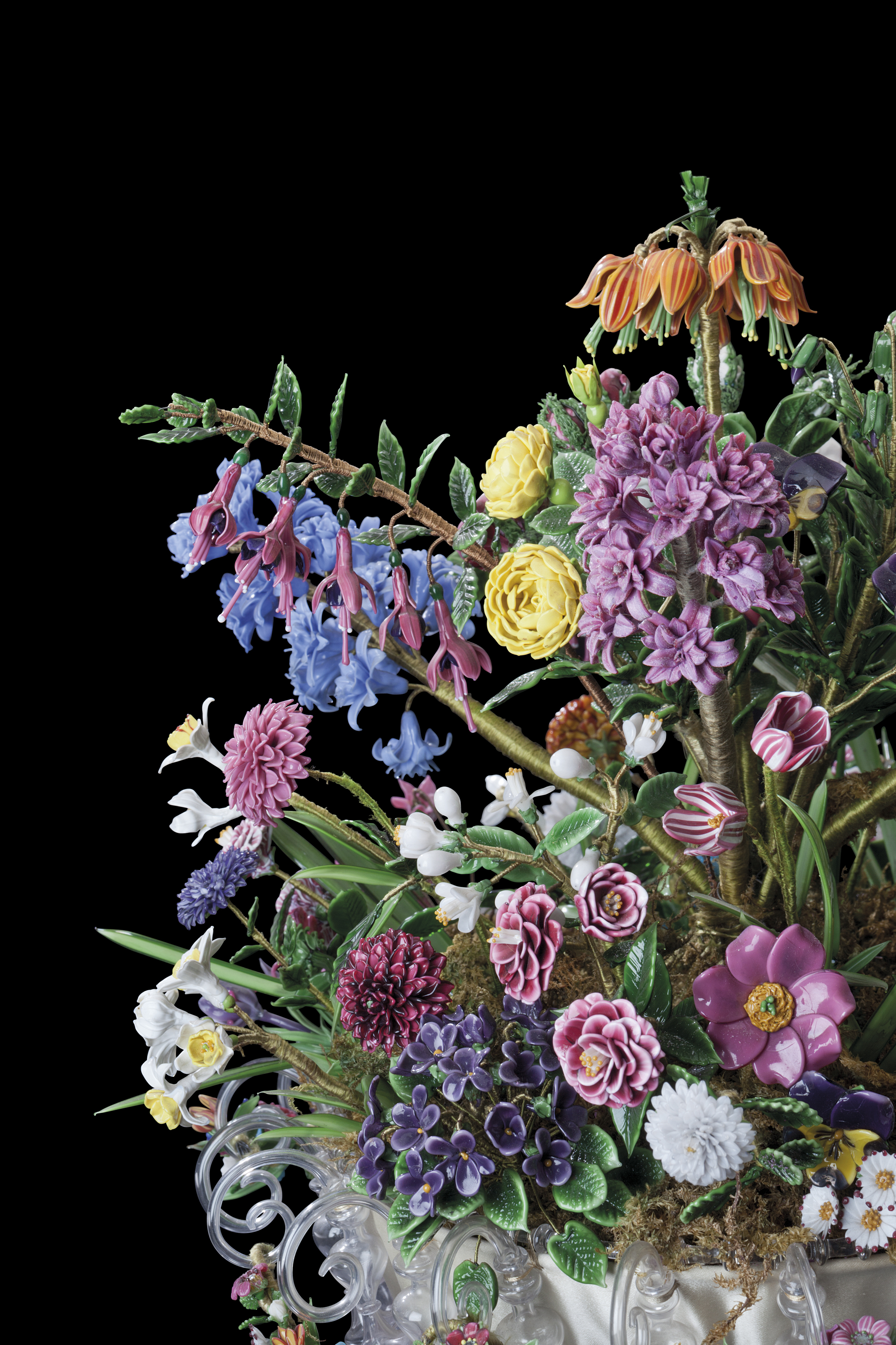 A CONTINENTAL GLASS FLOWER BOUQUET* | LATE 19TH/20TH CENTURY ...