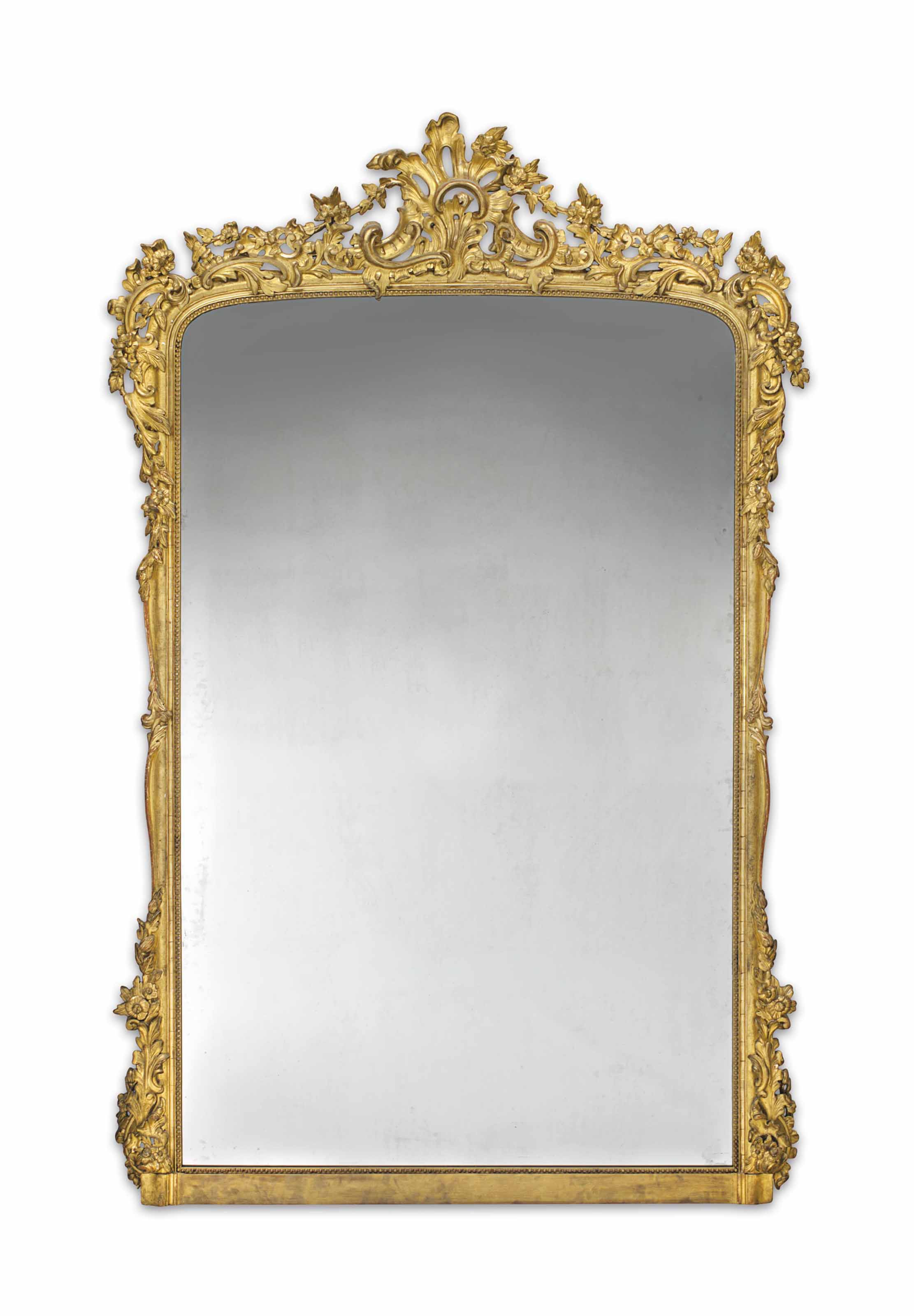 A FRENCH GILTWOOD OVER-MANTEL