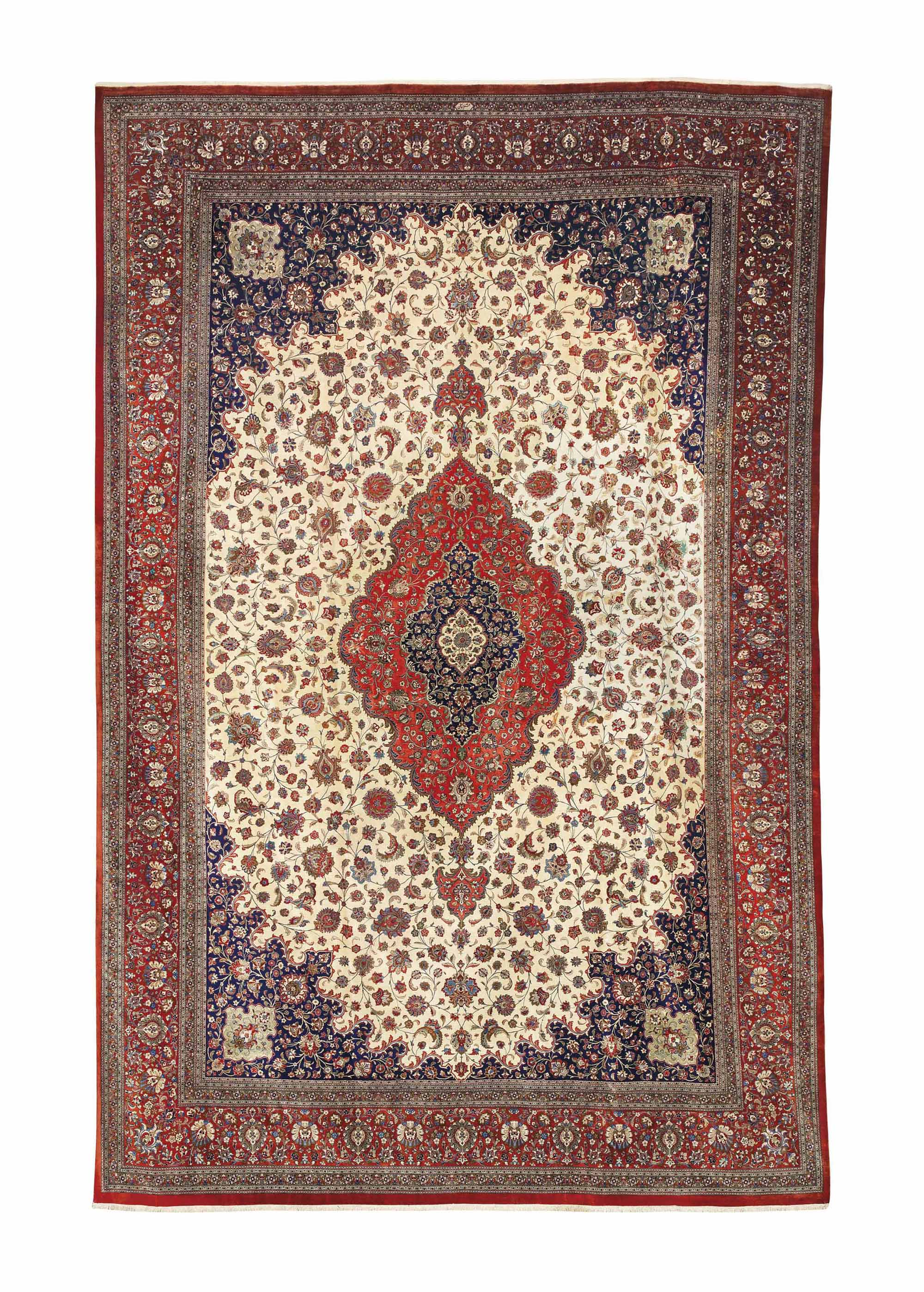 A SILK QUM CARPET