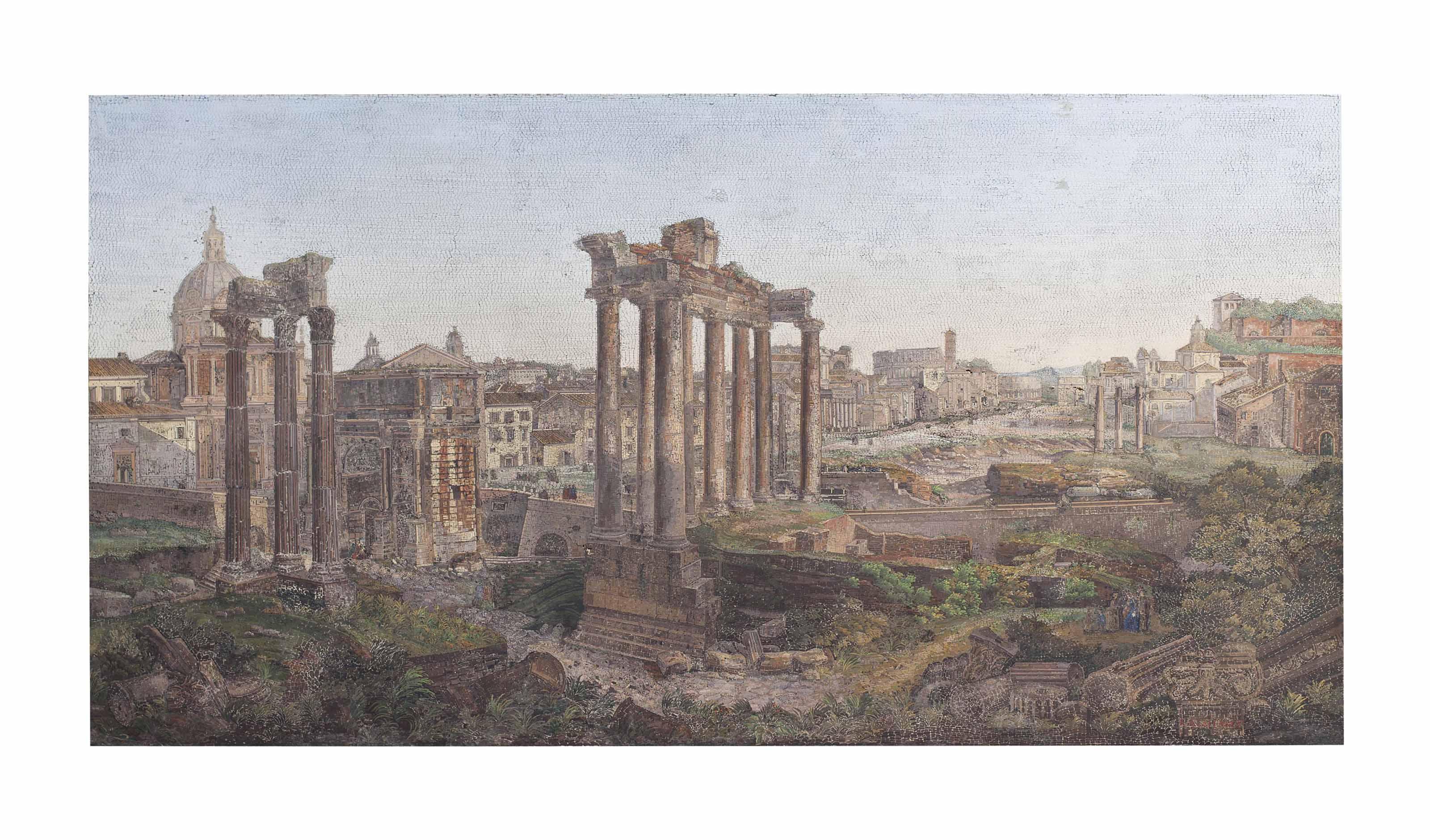 A MONUMENTAL ROMAN MICROMOSAIC