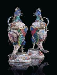A PAIR OF FINE VIENNESE SILVER
