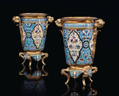 A PAIR OF FRENCH ORMOLU AND CH