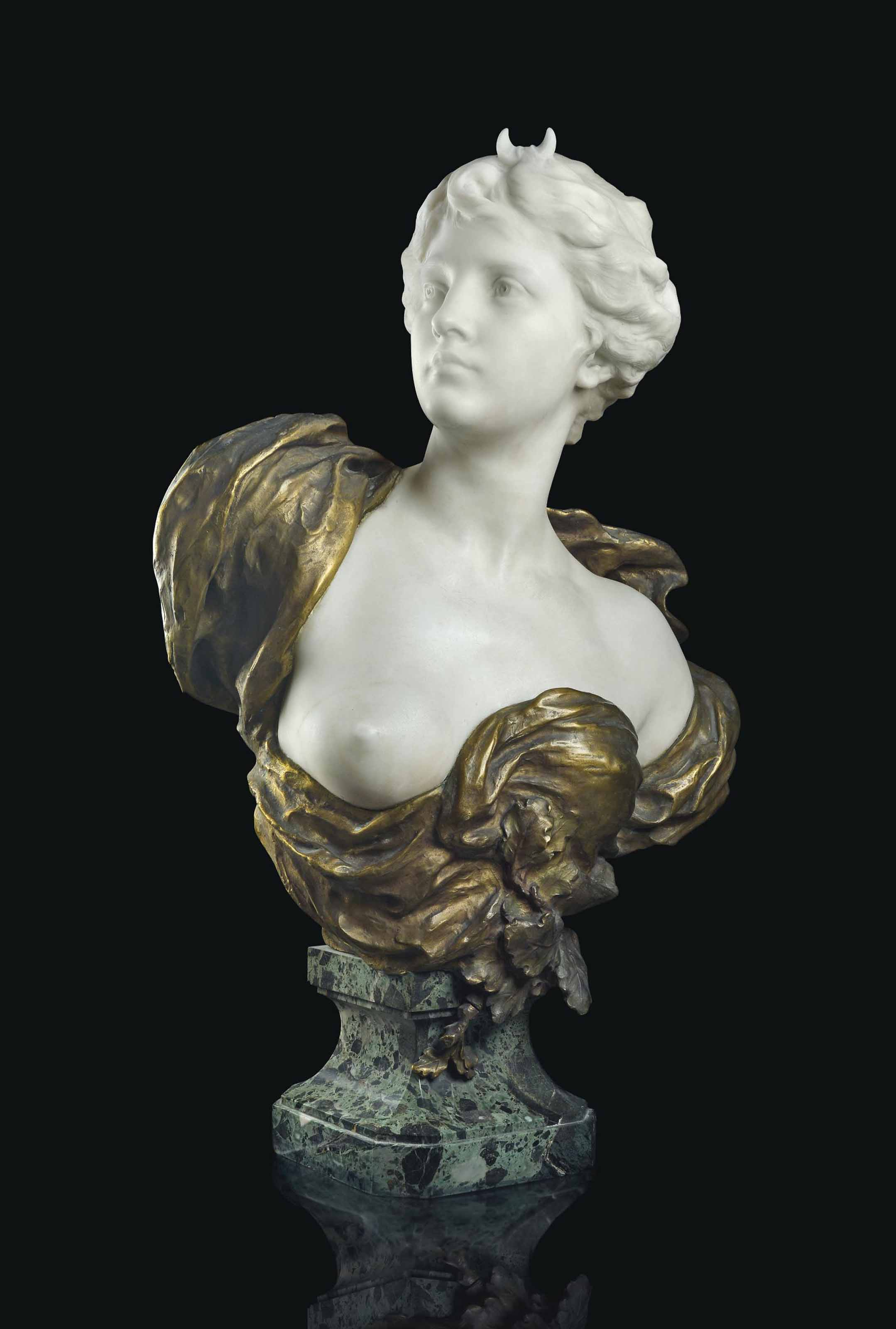 A LARGE FRENCH ORMOLU AND WHIT