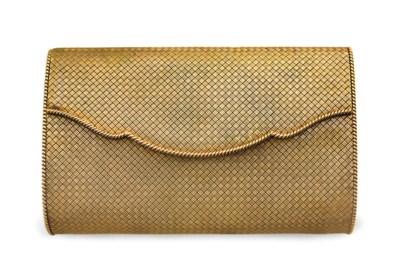 A GOLD EVENING BAG, BY CARTIER