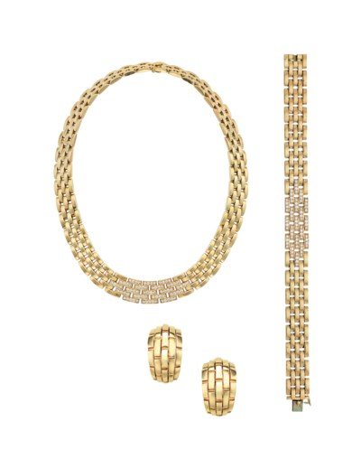 A SUITE OF GOLD 'MAILLON PANTH