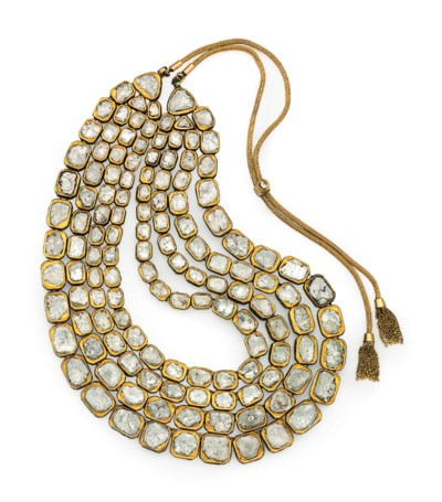 A DIAMOND AND ENAMEL INDIAN NE