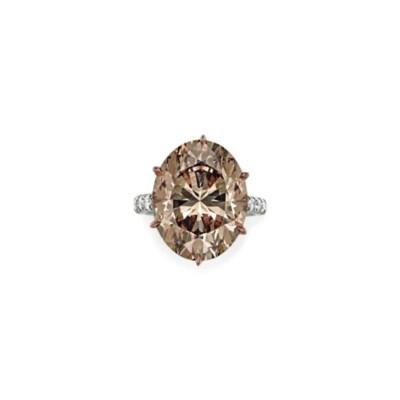 A COLORED DIAMOND AND DIAMOND