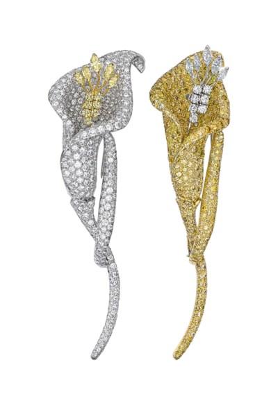 TWO DIAMOND AND COLORED DIAMON