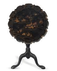 A GEORGE II BLACK AND GILT-JAP