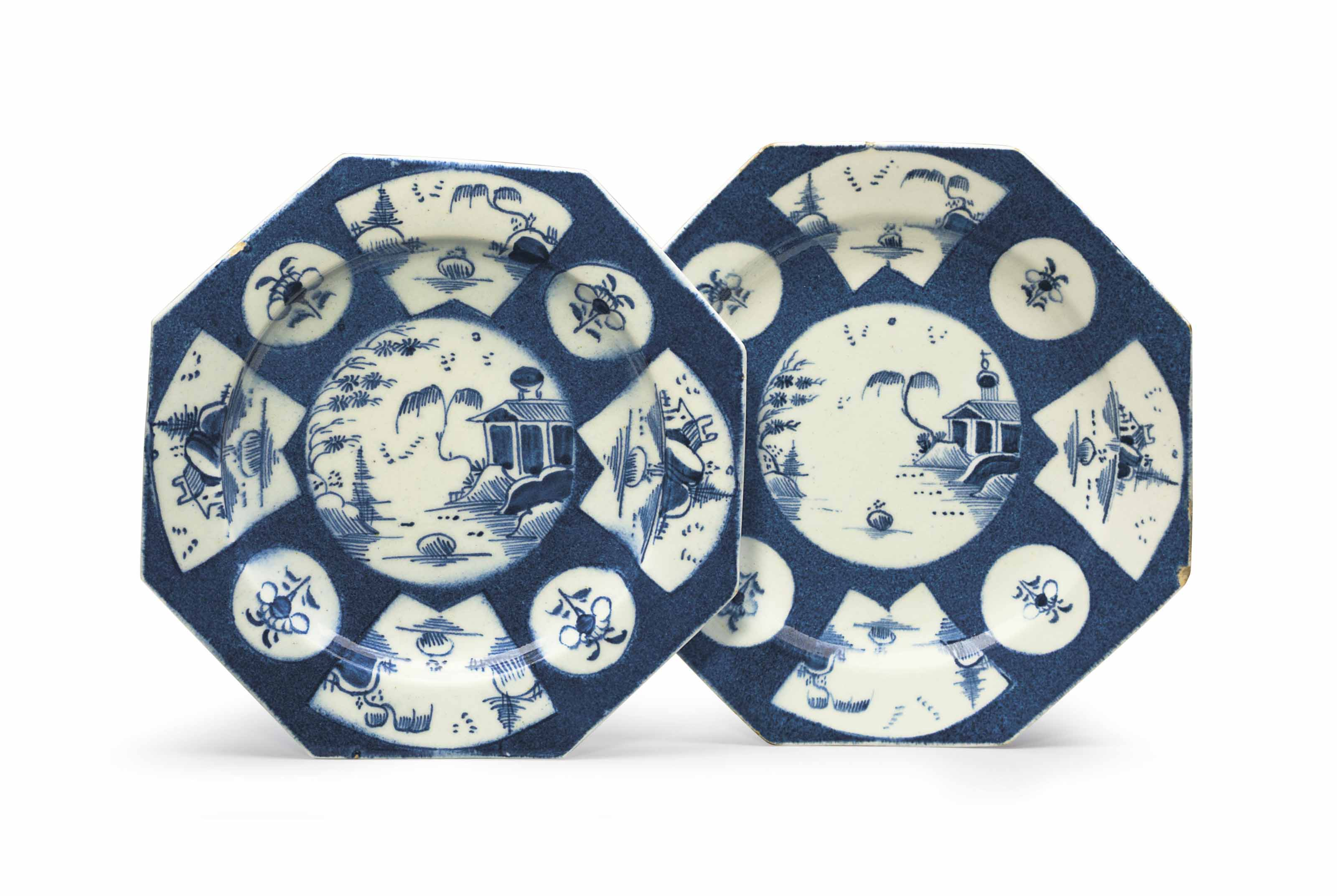 A PAIR OF BOW PORCELAIN POWDER