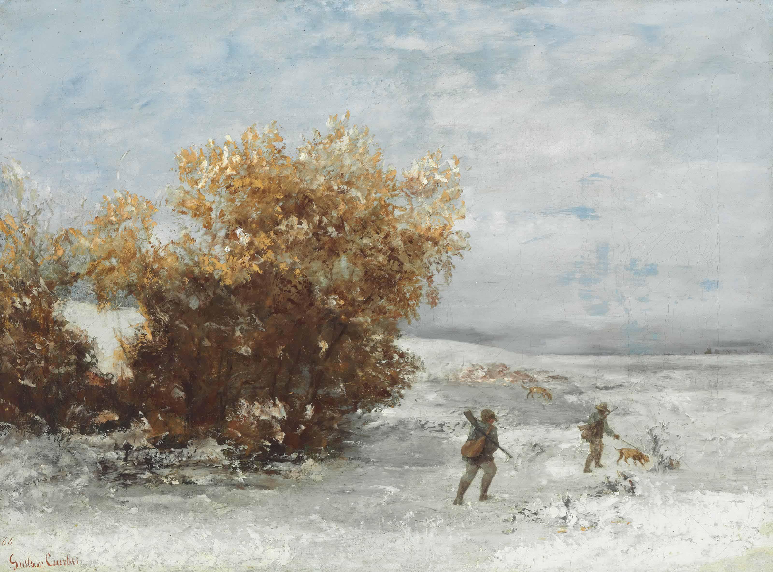 Chasseurs dans le neige