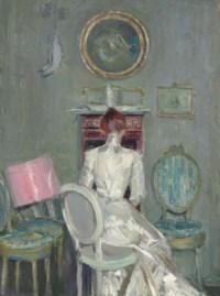 Madame Helleu à son bureau