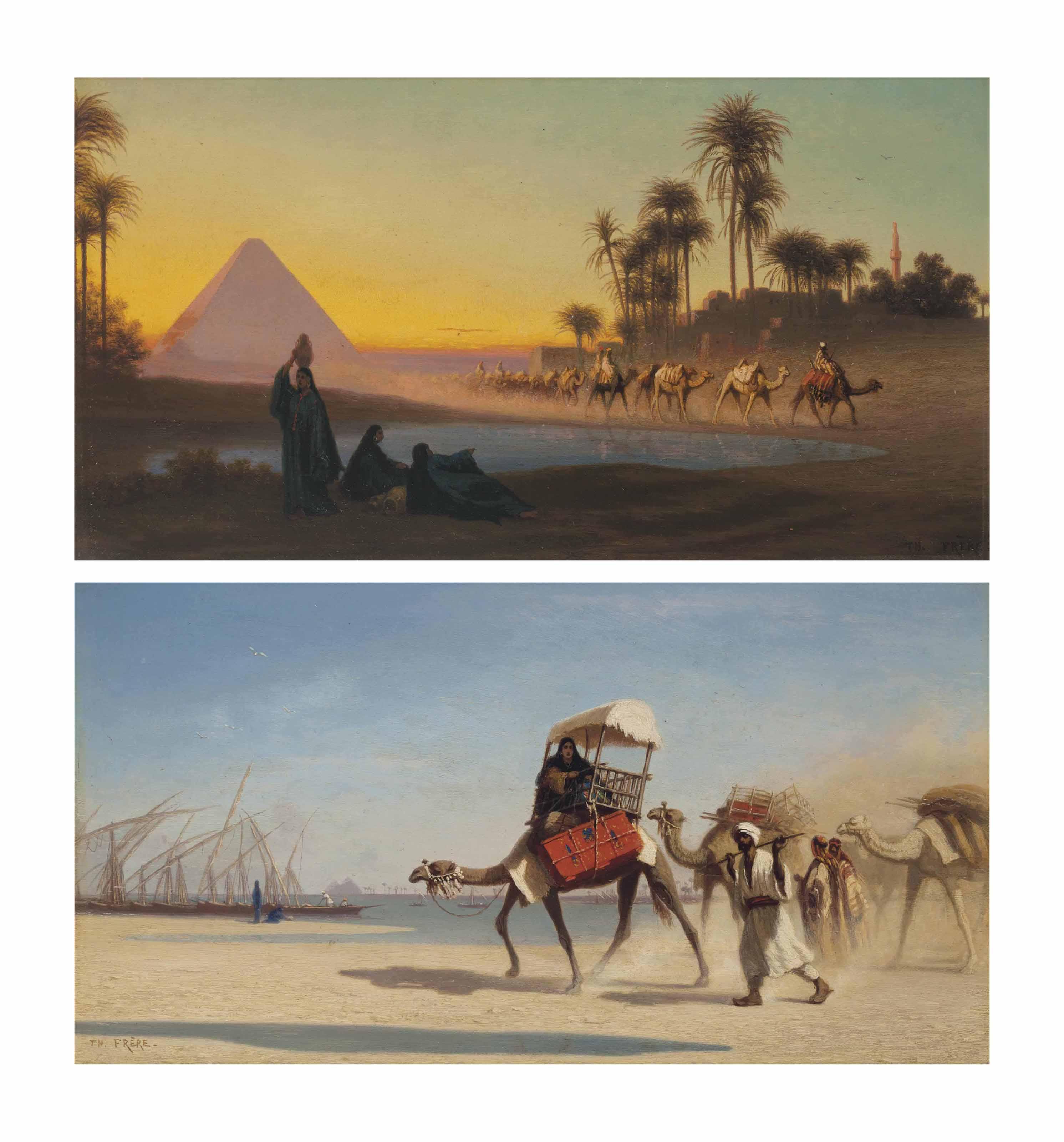 Grand Pyramide de Gyzeh; Bords du Niel à Boulak