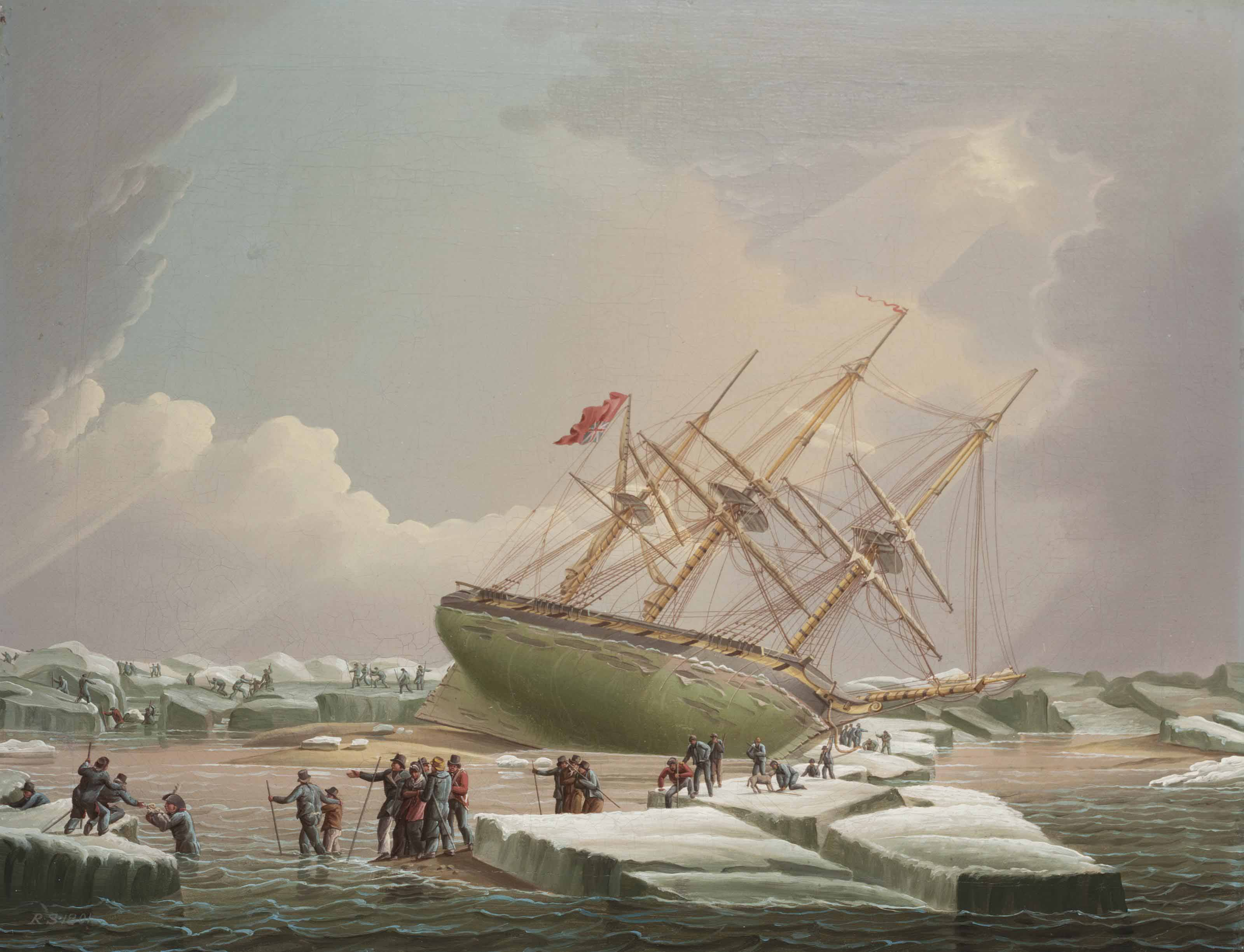 Shipwreck on Ice