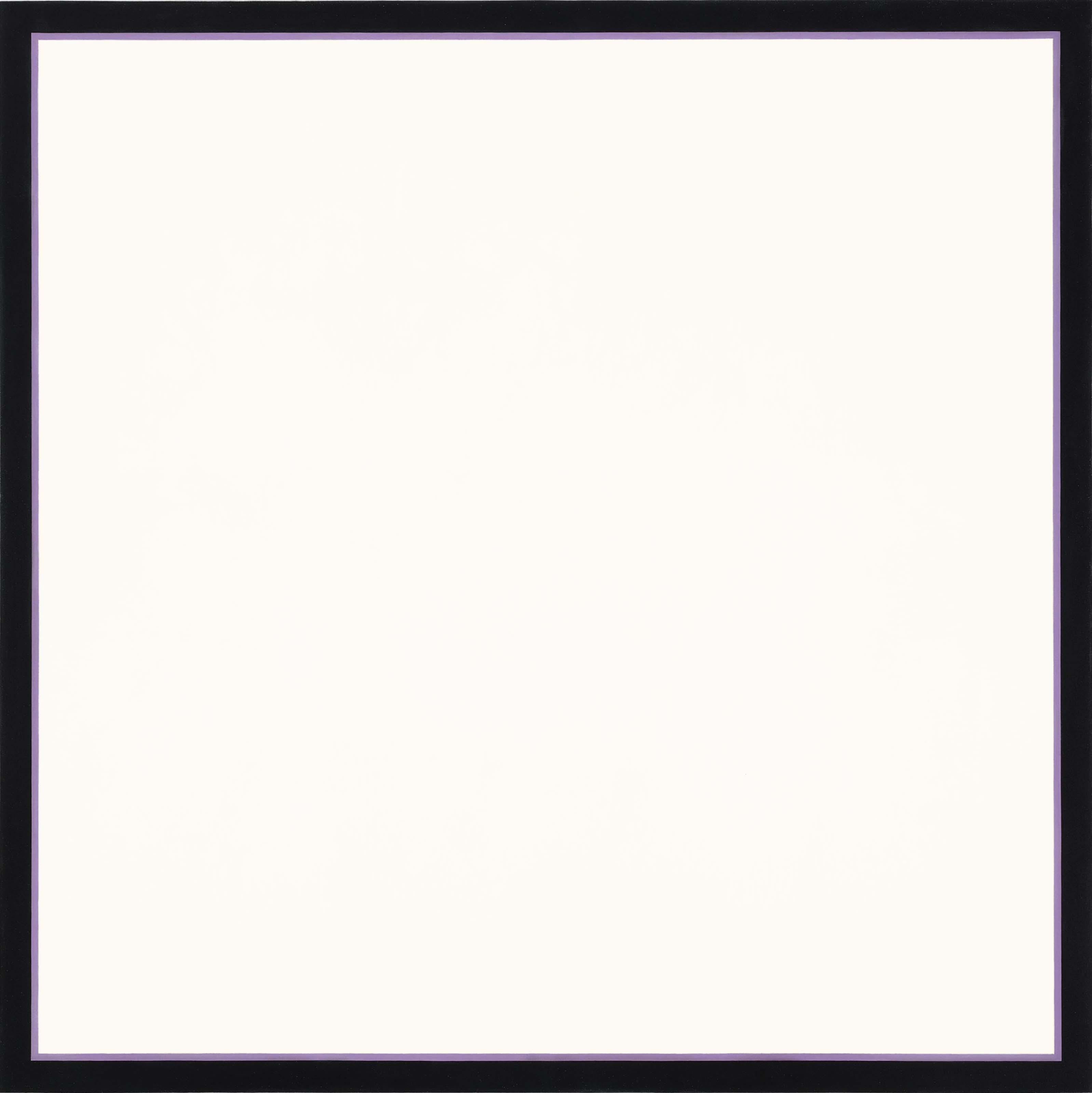 Untitled (White Square Lavender)