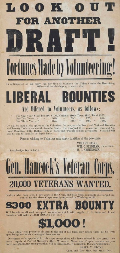 [CIVIL WAR]. Enlistment poster
