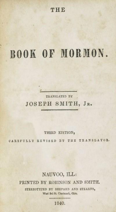 SMITH, Joseph (1805-1844). The